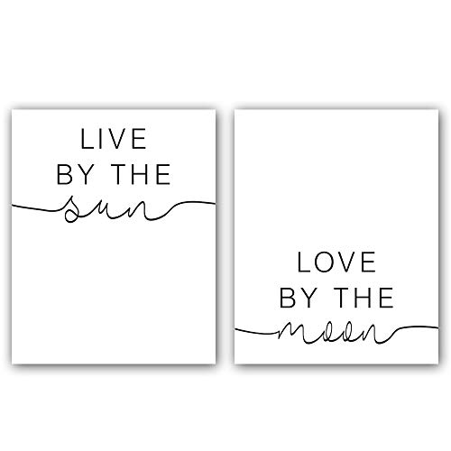(Live by The Sun-Love by The Moon Art Print Set of 2 (8