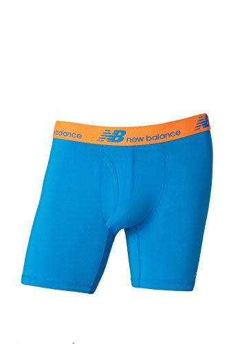 UPC 721357230260, New Balance Men's NB Dry Fresh Boxer Briefs, Sonar Blue/Lava Orange, Medium