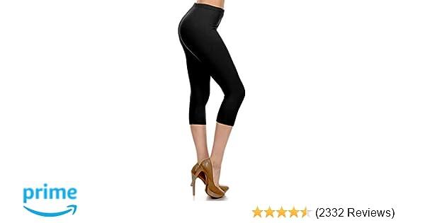 9e780b5ade81f Leggings Depot High Waisted Capri Leggings - Soft & Slim - 37+ Colors at Amazon  Women's Clothing store: