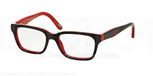 Polo PP8524 Eyeglass Frames 1503-46 - Black / Red at Amazon Men\'s ...