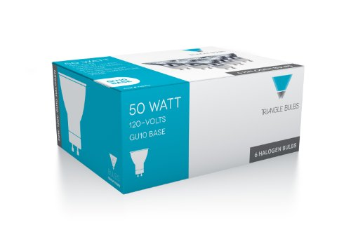 Triangle Bulbs T10293-6 (6 pack) - 50 Watt, GU10 Base, 120 Volt, MR16 With UV Glass Cover, Halogen Flood Light Bulb, Q50MR16/FL/GU10, 6 Pack by Triangle Bulbs (Image #3)