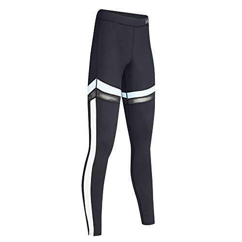 Alta Corsa Sports Da Nero Yoga Wicking Womens Strechy Vita Pantaloni Fitness 02 Leggings 1FwgqI