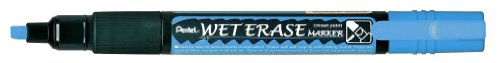 Pentel Wet Erase Chalk Marker, Blue Medium (SMW26-C) (Blue Pentel Markers)