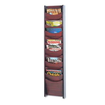 Safco Solid Wood Wall-Mount Literature Display Rack, 11-1/4w x 3-3/4d x 48h, (Safco Wall Mount)