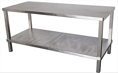 Hubertus - Mesa de trabajo (acero, 1,8 x 0,75 m): Amazon.es: Hogar
