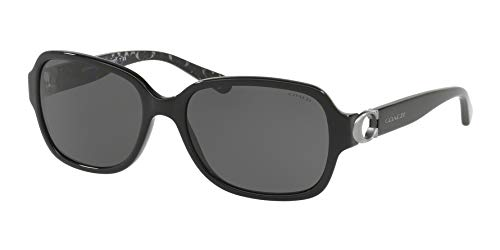COACH Women's 0HC8241 Black/Dark Grey Solid One ()