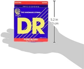 DR Strings Pure Blues Pure Nickel Wrap Round Core 12-52