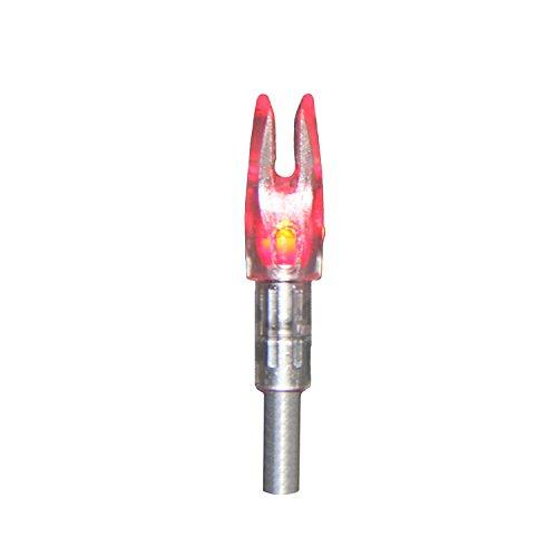 Red Lighted Nock (AMSBowfishing AMS M114 Nockturnal Lighted Nocks (Pack of 3), Red)