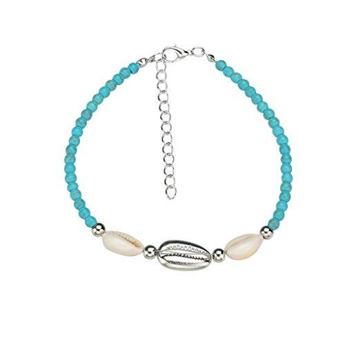 LIM&Shop Bohemian Natural Shell Bead Handmade Bracelet Beach Choker Girls Ladies Hawaiian Puka Chip Necklace Adjustable]()