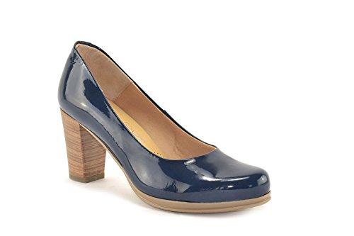 ConBuenPie by Desiree Shoes - modelo 1149 - Calzado de Piel estilo Casual para Mujer Colores Azul y Beige Azul