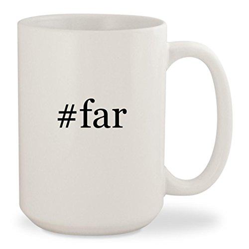 #far - White Hashtag 15oz Ceramic Coffee Mug Cup