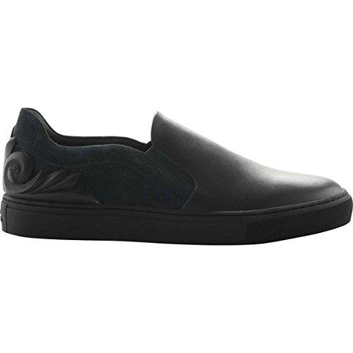 [ヴェルサーチ] メンズ スニーカー Baroque Suede and Leather Slip-on Sneake [並行輸入品] B07DHNV7XQ