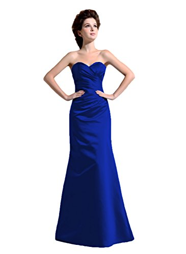 Bridal_Mall - Robe - Trapèze - Sans Manche - Femme -  Bleu - 48 plus