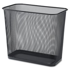 Rectangular Waist Bin,Steel Mesh,7.9 Gal.,17''x15'',Black, Sold as 1 Each