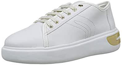 GEOX D Ottaya A Womens Nappa Leather Sneakers Fashion Shoes-White-6