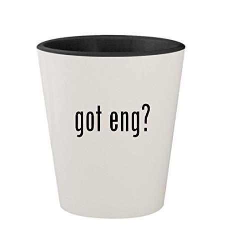got eng? - Ceramic White Outer & Black Inner 1.5oz Shot Glass