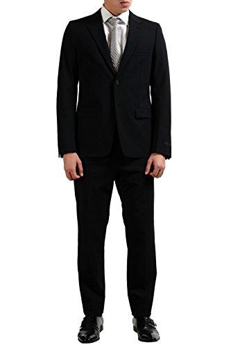 Prada Wool Black Two Button Men's Suit US 40R IT 50R