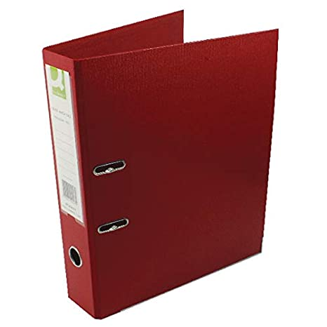Q-Connect KF20027 - Archivador de palanca, (tamaño folio, polipropileno), color rojo: Amazon.es: Oficina y papelería