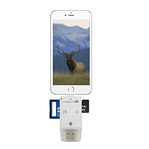 TSEAH Trail and Game Camera Viewer for Apple iPhone, iPad, iPod | Lightning connector with Extender | Reads SD, SDHC and Micro SD Cards (White) by TSEAH (Image #6)