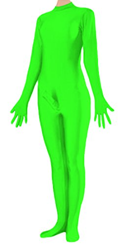 Marvoll Unisex Lycra Fullbody Penis Costume Without Hood for Kids and Adults (X-Large, Lime Green)