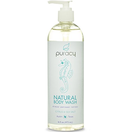 Puracy Natural Liquid Body Wash Sulfate Free Shower Gel Citrus Sea Salt