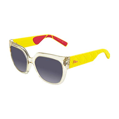 (CHRISTIAN DIOR MYDIOR 3R Crystal Yellow Rubber Sunglasses )