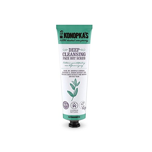 (DR KONOPKA'S - Deep Cleansing Face Hot Scrub - Perfect for Normal and Oily Skin - 99% Natural Ingredients - Vegan - 75 ML)