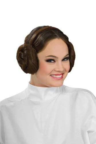 Hair Wig Costumes Accessory (Rubie's Costume Women's Star Wars Princess Leia Headband, Brown, One Size)