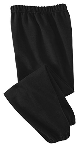 Jerzees Youth 8 Oz, 50/50 NuBlend Sweatpants, Small, Black ()