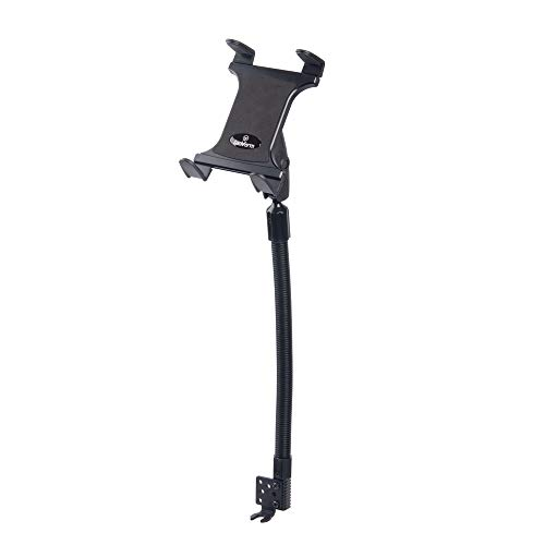 Tablet Mount for Car and Truck - TACKFORM [Enterprise Series] Aluminum Rod 18 Inch Gooseneck with 3.75 Arm Device Holder for Taxi, Van, Car or Truck. for iPad, Galaxy, Surface Pro and More.