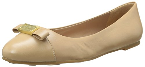 Ballet Plaque - Marc by Marc Jacobs Women's Tuxedo Logo Plaque Ballet Flat, Nude, 35 EU/5 M US