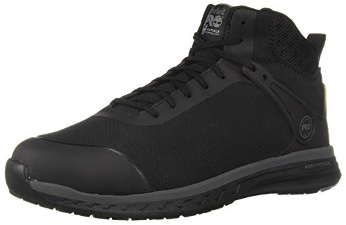 (Timberland PRO Men's Drivetrain Mid Composite Toe Industrial Boot, Black, 14 W US)