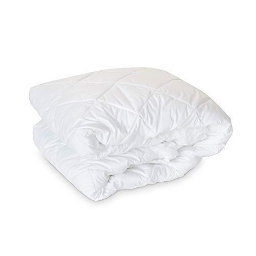 Luxury Eddie Bauer 300 TC Hypoallergenic Premium Cotton Mattress Pad - Medium Weight - Made in the USA (Queen)