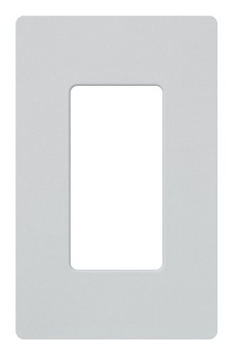 Lutron Claro 1 Gang Decorator Wallplate, SC-1-PD, Palladium (Satin Palladium)
