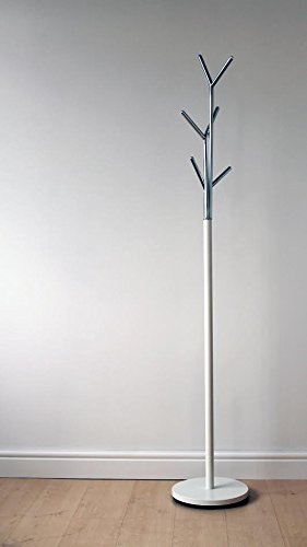 6ba28498cad3 White   Chrome Modern Hat   Coat Stand  Amazon.co.uk  Kitchen   Home
