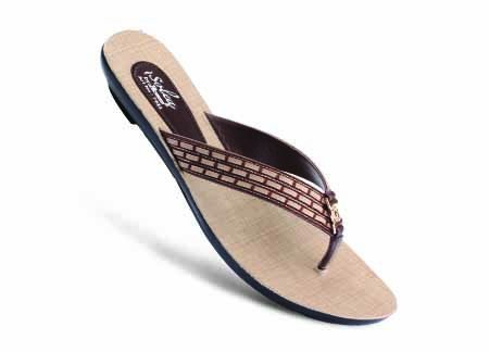Paragon Women's Brown Slippers (7923) Flip-Flops & Slippers at amazon