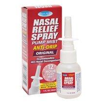 (3 Pack) Nasal Relief Spray, 12 hour Pump Mist (Oxymetazoline HCL) 1 fl oz