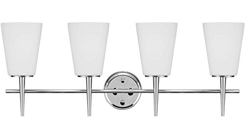 Sea Gull Lighting 4440404-05 Driscoll Four-Light Wall Bath Vanity Style Lights, Chrome Finish