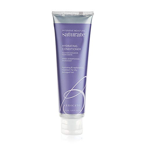 Brocato Saturate Daily Hair Conditioner: Intensive Moisture Hydrating Conditioner with Fortifying Keratin and Moisturizing Aloe for Dry, Damaged Hair - Contains No Sulfate or Parabens - 5.25 Oz  (Brocato Saturate Moisture Shampoo)