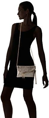 Elphis Fashion Evening Envelope Fold Over Clutch Wristlet Purse Cross Body Bag
