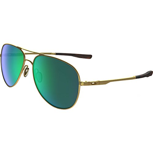 Oakley Elmont M and L Non-Polarized Iridium Aviator Sunglasses, Satin Gold, 58 - Elmont Oakley