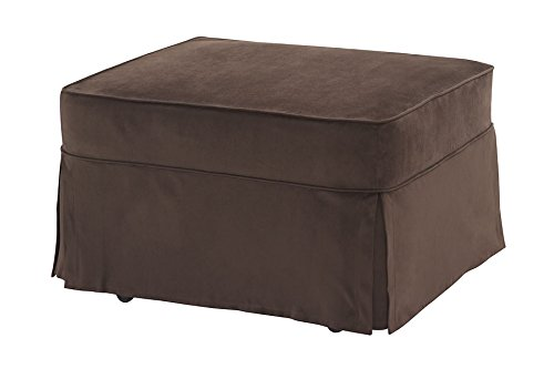 Castro Convertibles Twin Size Sleeper Ottoman with Mini-cord Coffee Cover For Sale