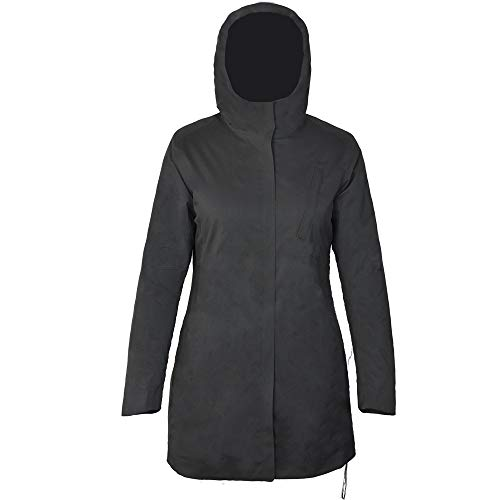 Fit Space Women's Long Winter Coat Warm Outerwear Jacket Cotton-padded Parka Waterproof Insulated Jackets with Hood, Black ()