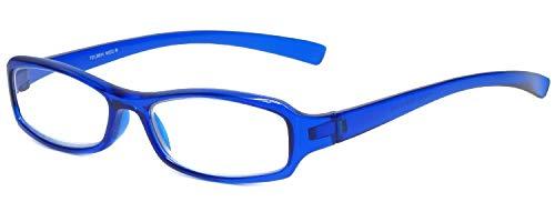 Calabria 8034 Designer Reading Glasses in Blue +1.75