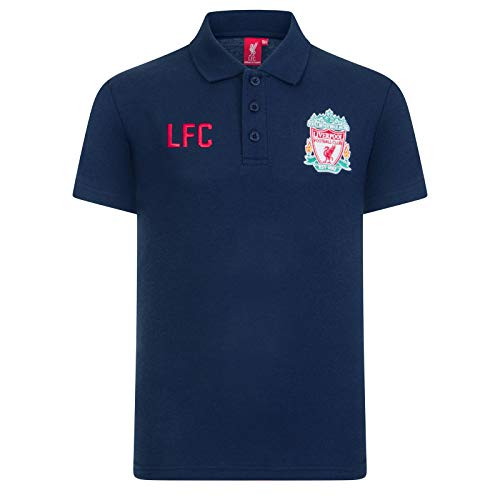 Liverpool FC Official Soccer Gift Boys Crest Polo Shirt Navy 10-11 Years LB