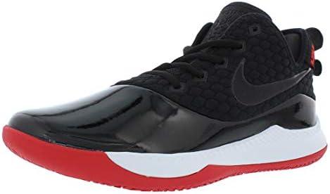 メンズ バスケットボールシューズ レブロンIIIウィットネスPRM ブラック/ブラック/ホワイト/ユニバーシティレッド BQ9819 001