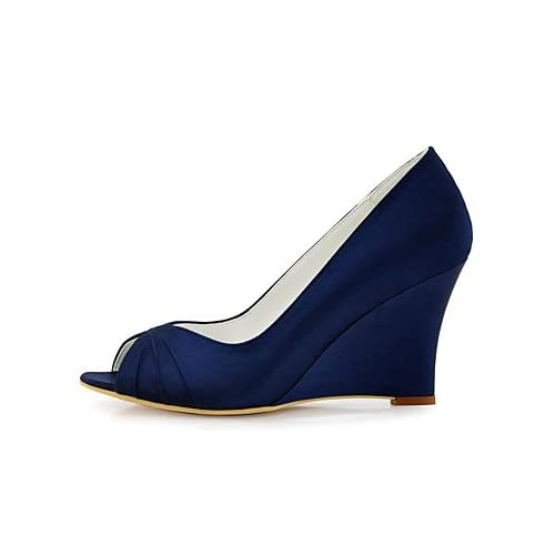 e62e29aeec El mejor regalo para mujer y madre Mujer Zapatos Satén Elástico Primavera  Verano Pump Básico Zapatos ...