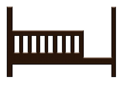 Built to Grow Toddler Bed Kit Safety Rail w/Daybed Conversion Kit for Young America Cribs (Espresso)