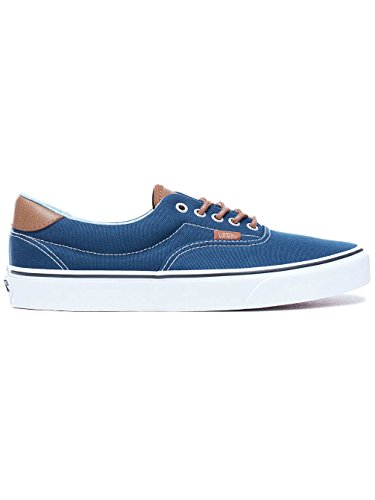 Vans Mens Era 59 (C&L) Skateboarding Sneakers VN0A38FSQ (12 Women / 10.5 Men M US, Dress Blues/Acid Denim)