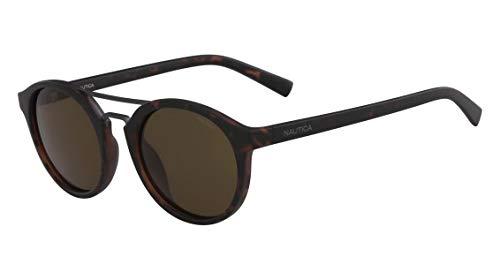 Óculos Nautica N3626Sp 237 Tartaruga Lente Polarizada Marrom Flash Tam 53